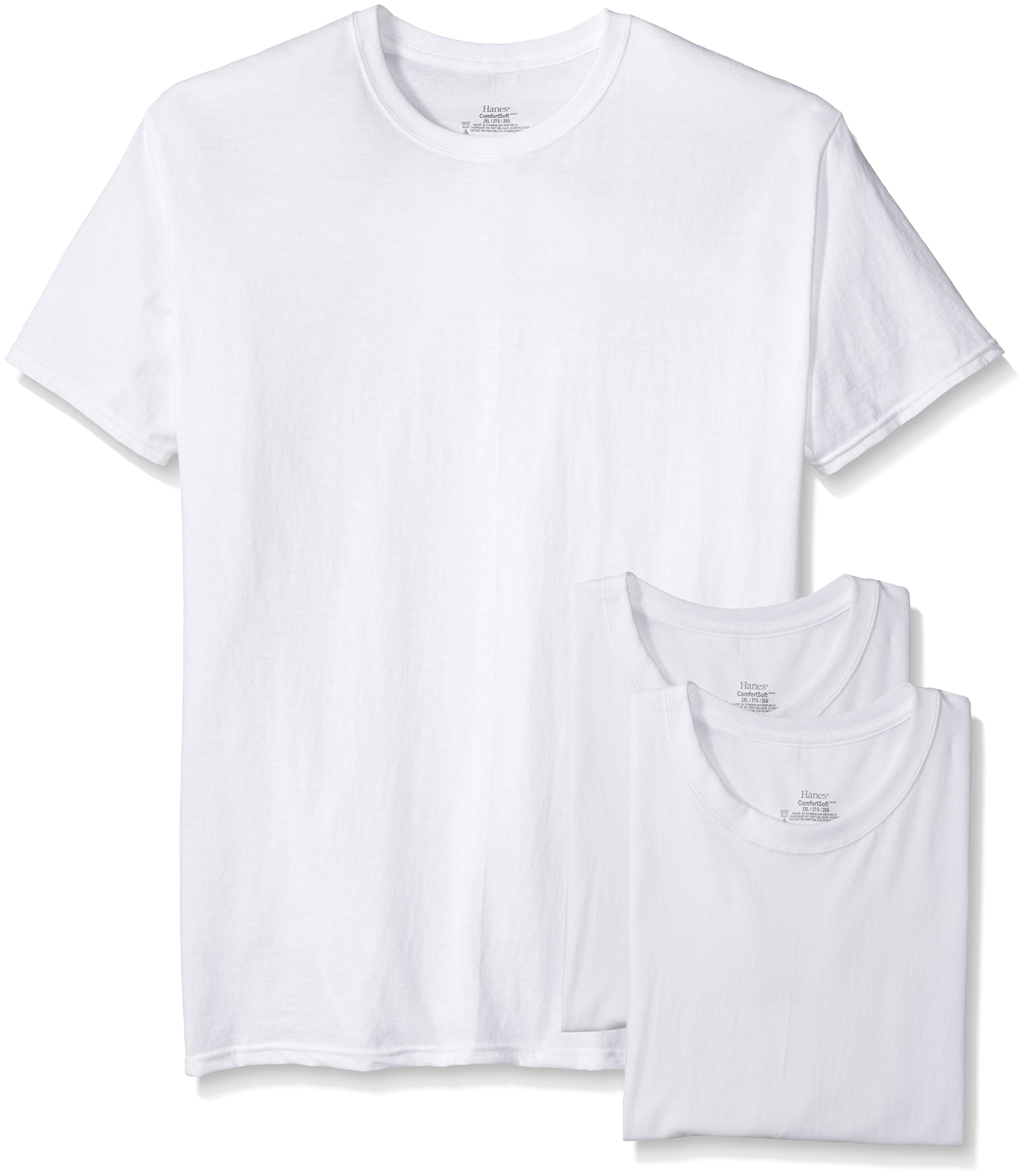 3 Cotton Hanes® T-shirts White, M