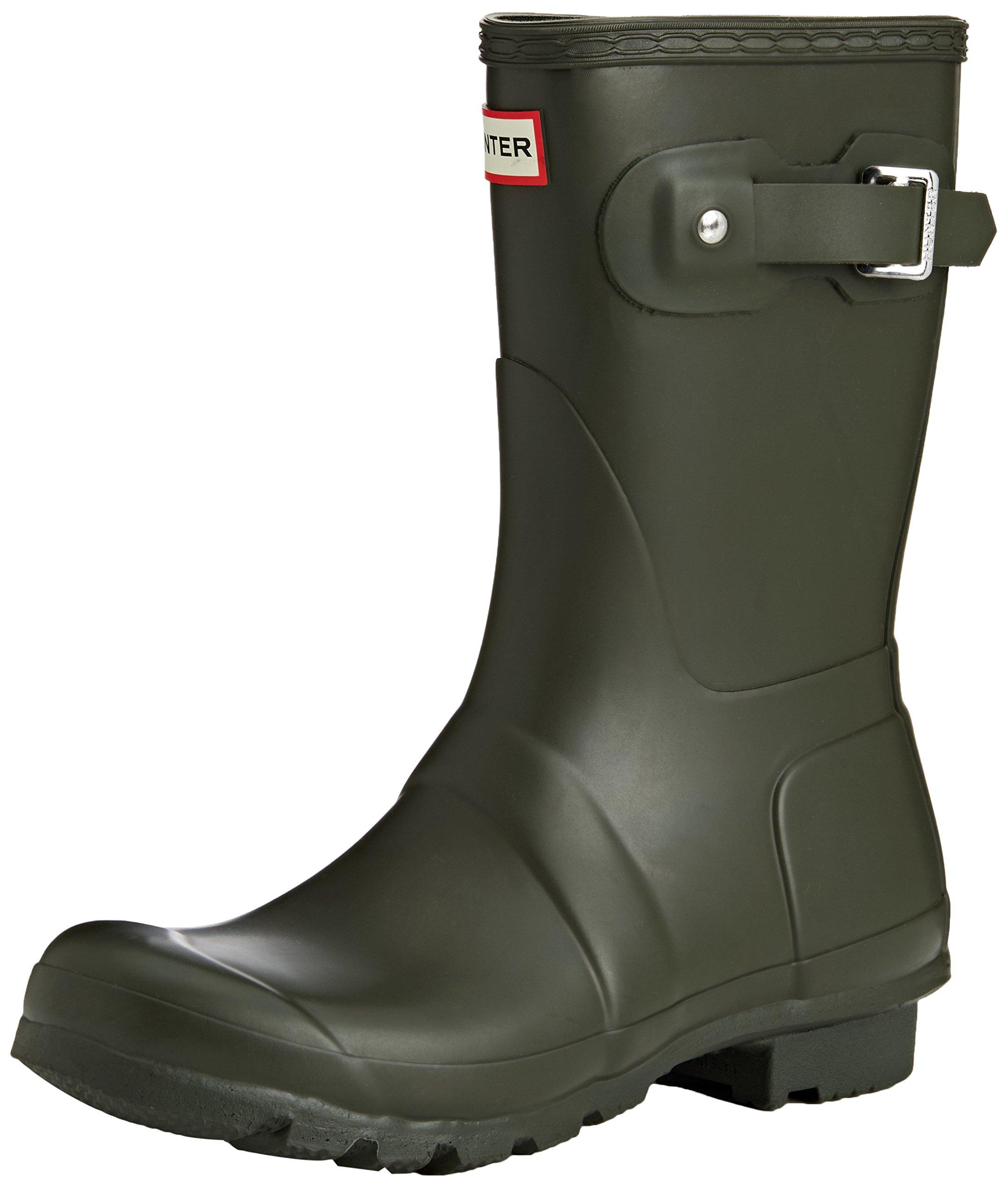 Hunter Women's Original Short Rain Boots Dark Olive 8 M US