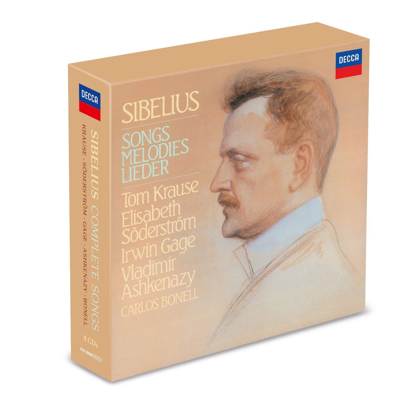 CD : TOM KRAUSE - ELISABETH SODERSTROM - IRWIN GAGE - VLADIMIR ASHKENAZY - CARLOS BONELL - Sibelius: Complete Songs (4PC)