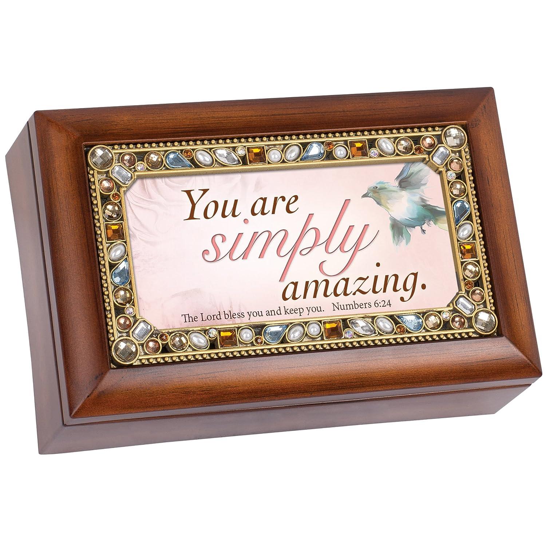 お買い得モデル You Are Simply Amazing Jeweled木目調ジュエリー音楽ボックス – Plays Tune Simply His Are You Eyeの雀 B00U1Q8LFO, 名入れボールゴルフギフトゴルゴル:f0349655 --- arcego.dominiotemporario.com