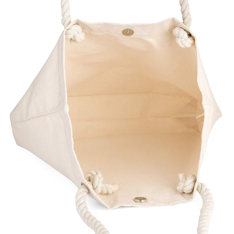 Amazon.com: BagzDepot - Bolsas de lona con asas de cuerda, 4 ...