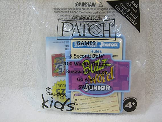 Amazon com : Chick-fil-A Buzzword Junior (Patch Games) Kids Meal Toy