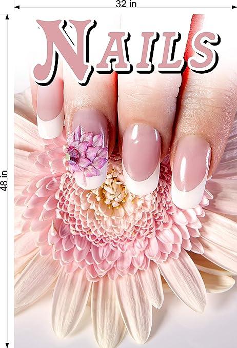 Nails X Photo-Realistic Paper Poster Salon Decor Ad Matte Non-Laminated Vertical