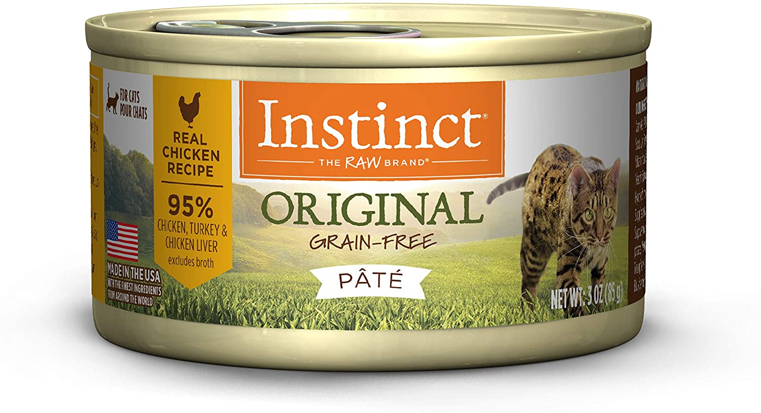 Instinct Original Grain Free Recipe Natural Wet Canned Cat Food (Pack of 12)