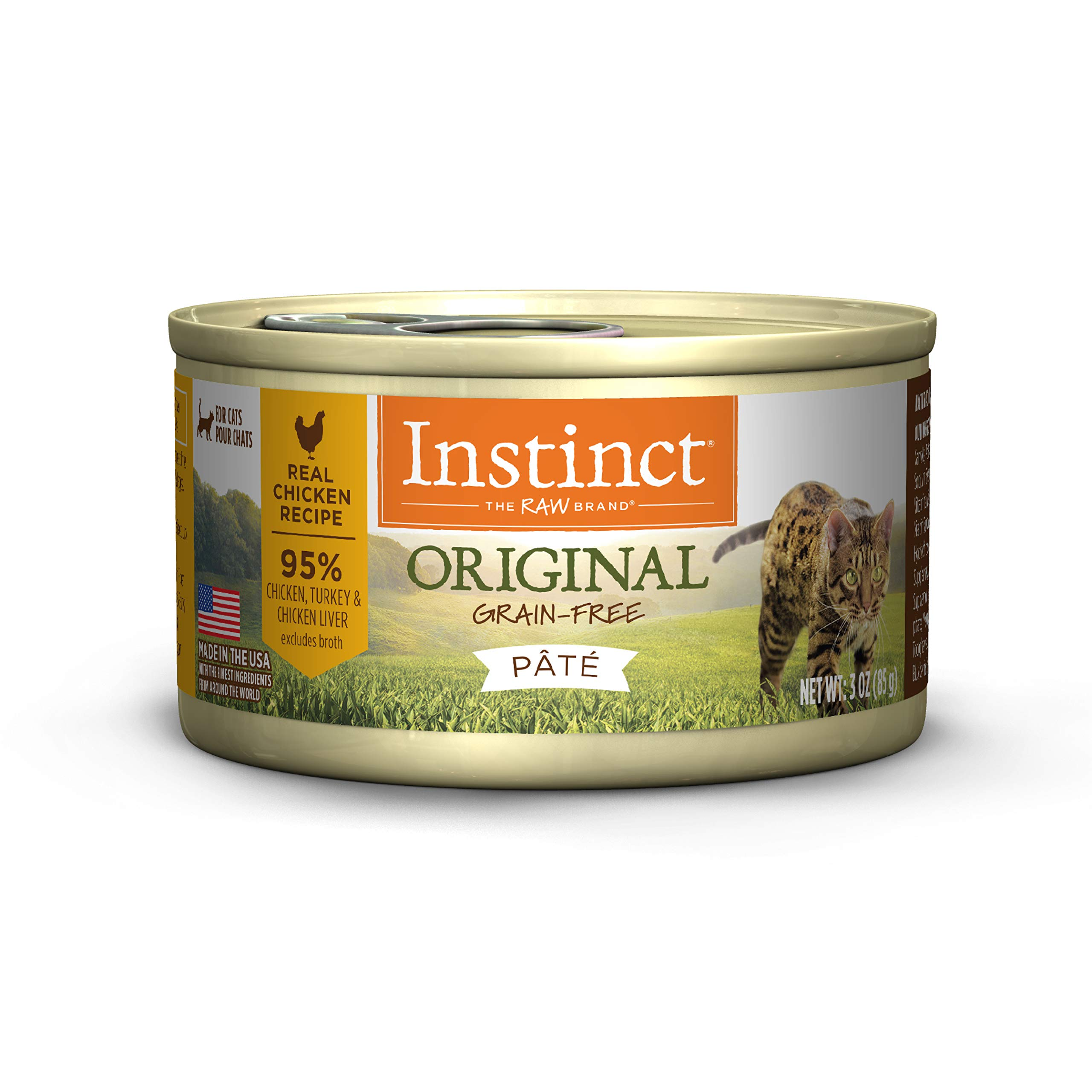 Instinct Original Grain Free Real Chicken Recipe Natural Wet Canned Cat Food by Nature's Variety, 3 oz. Cans (Case of 24) by Instinct