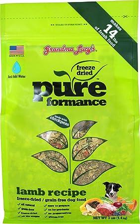 GRANDMA LUCY S 844213 Pureformance Grain Free Lamb Food for Dogs, 3-Pound