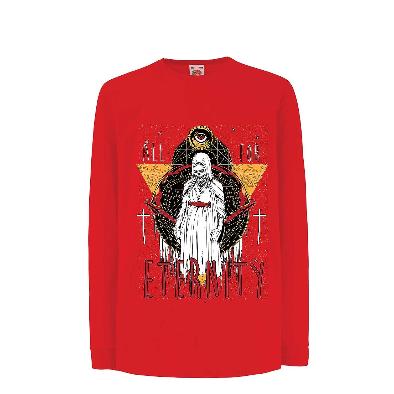lepni.me Camiseta para Niño/Niña Todo por la eternidad, Esqueleto, Halloween,: Amazon.es: Ropa y accesorios