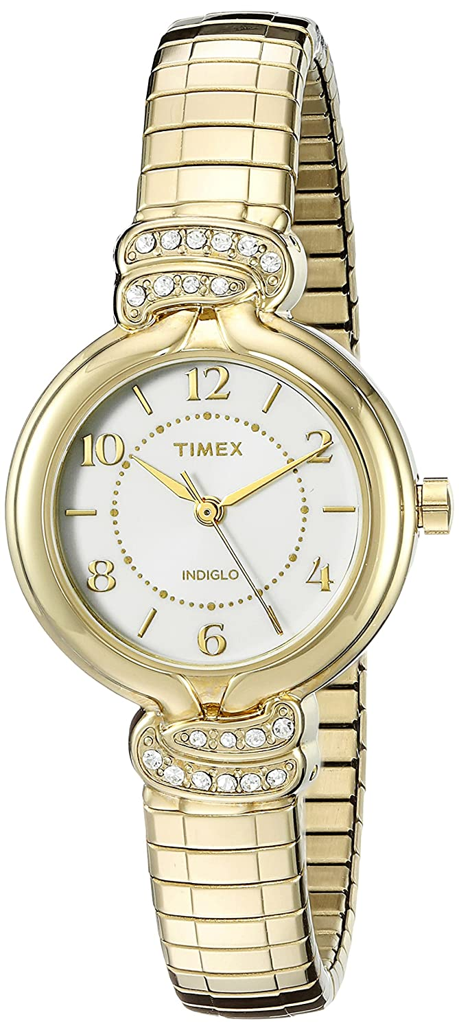124e9ec32 Amazon.com: Timex Women's Anna Avenue | Gold-Tone w Swarovski Crystals  Dress Watch TW2P61300: Timex: Watches
