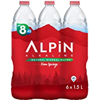 Alpin Alkaline Shrink Low Sodium Mineral Water - 1.5 liter (Pack of 6)