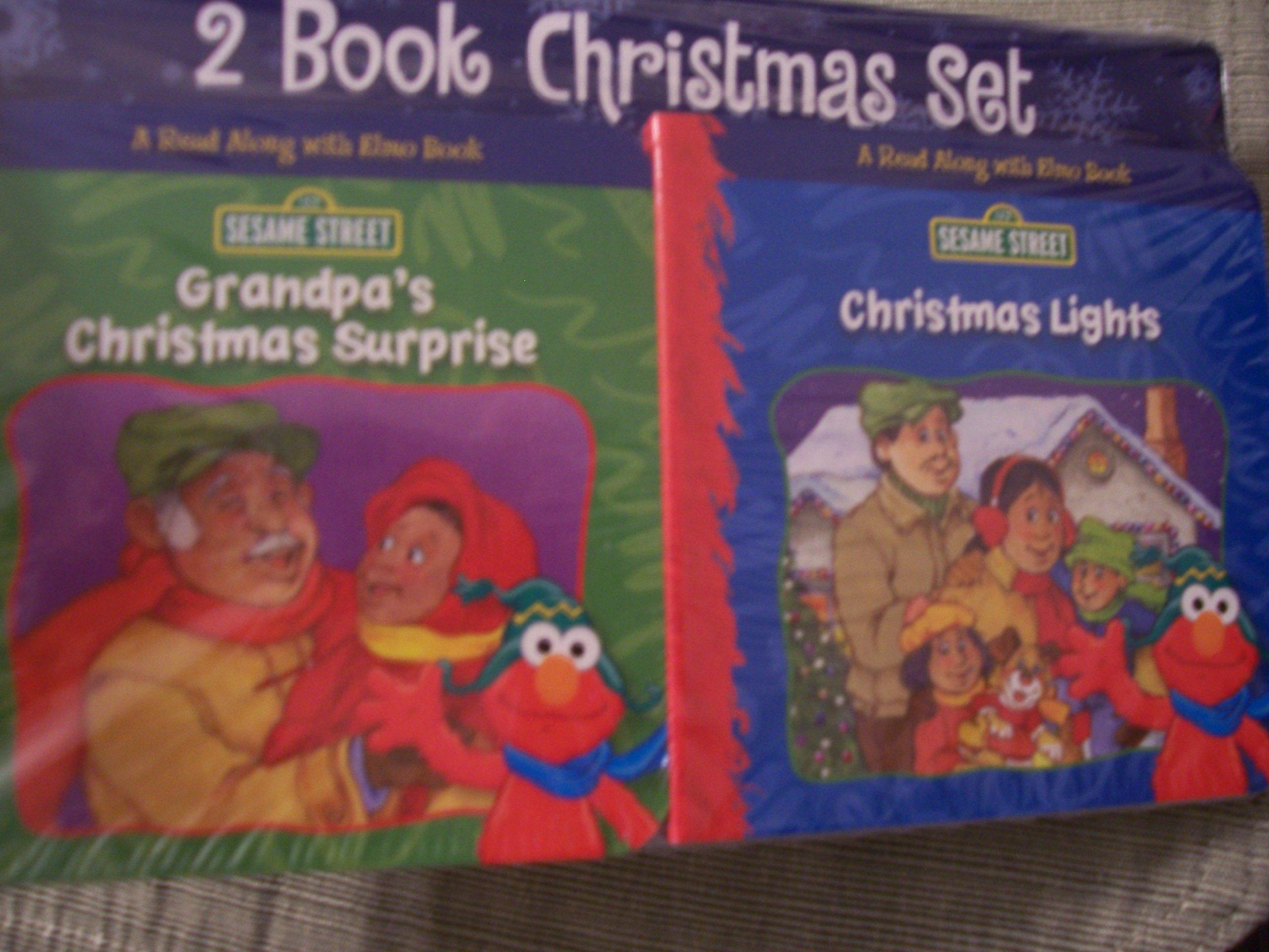 Sesame Street 2 Christmas Book Set ~ Grandpa's Christmas Surprise & Christmas Lights (A Read Along with Elmo Book) ebook