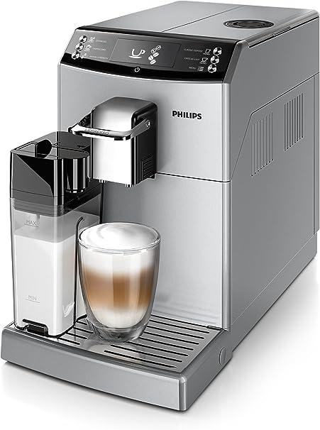 Philips Cafetera Espresso súper automática EP4051/10 EP4051/10-Cafetera Molinillo de café y espumador de Leche en Jarra, 0 W, 1.8 litros, 0 Decibeles, Plástico, Plata: Amazon.es: Hogar