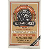 Kodiak Cakes Pumpkin Flax energy cakes superfood Protein Packed All Natural, Non GMO Protein Pancake, Flapjack and Waffle Mix 18 ounce