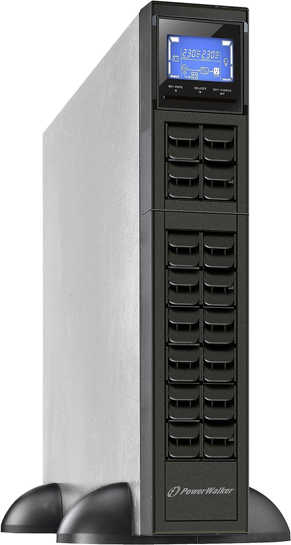 Powerwalker Vfi 3000 Crm Lcd 3000va 2400w Online Usv Tower Rack Doppelwandler Snmp Slot