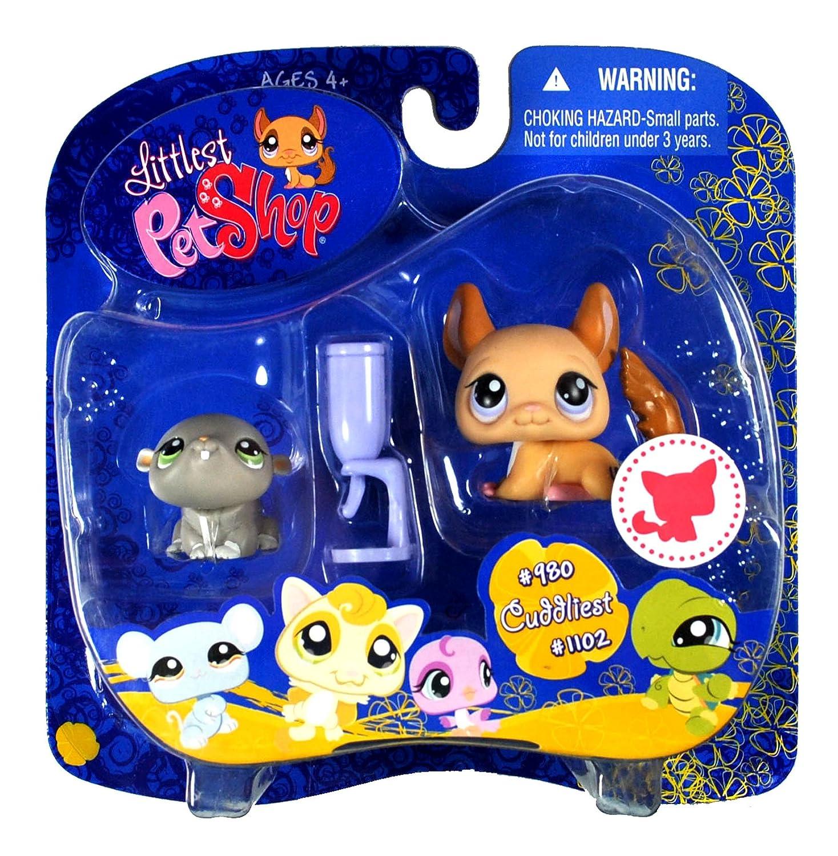Littlest Pet Shop Cuddliest Pet Shop Pairs Hasbro Portable Collectible Bottle Gift Set - Hamster (#980) and Chinchilla (#1102) Plus Water Bottle by Hasbro [並行輸入品] B002WC52EI, X-SPORTS:d6fec1b4 --- arvoreazul.com.br