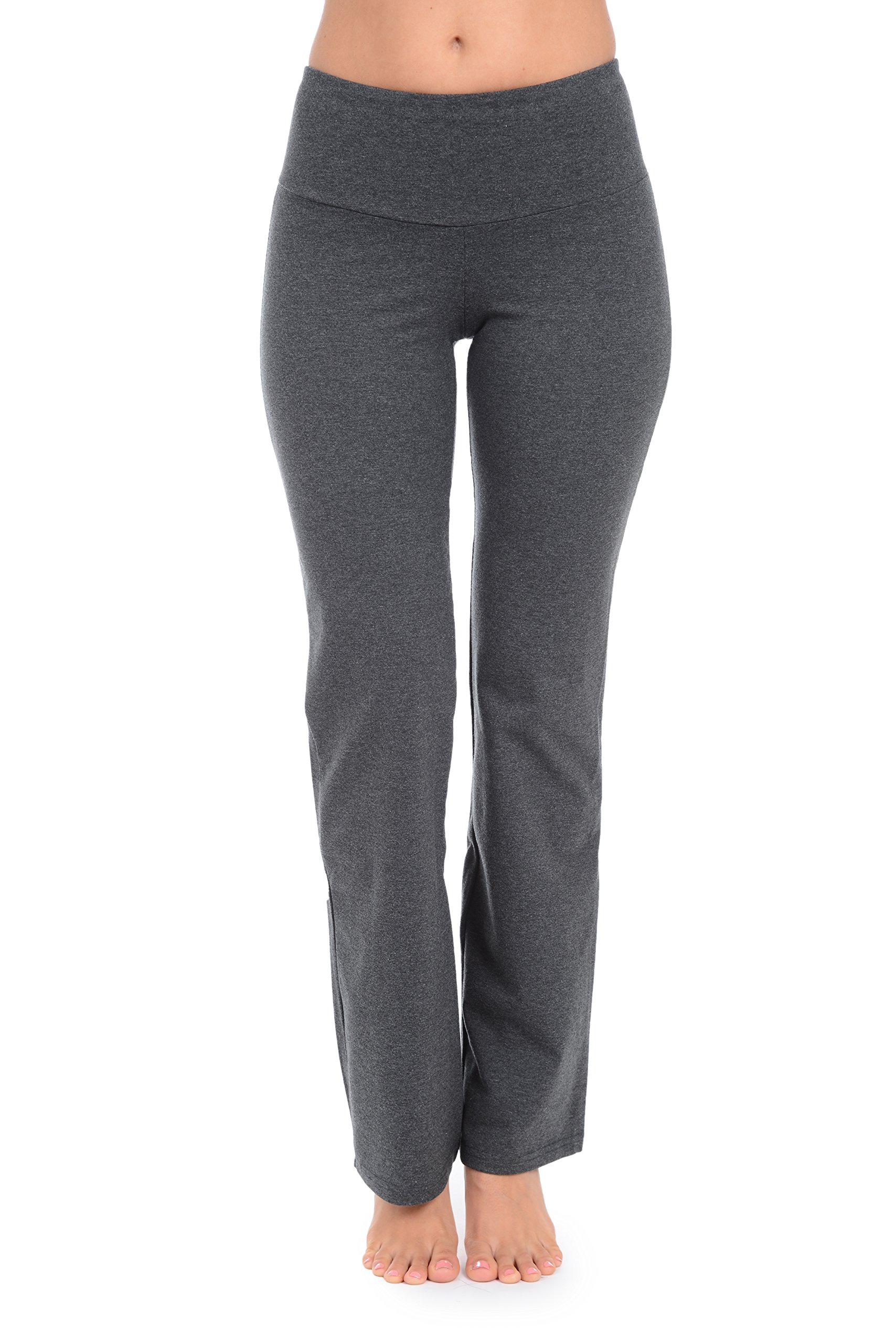 The Girls Tummy Control Women's Tall Boot Cut Pant (Small Tall, Charcoal) by The Girls