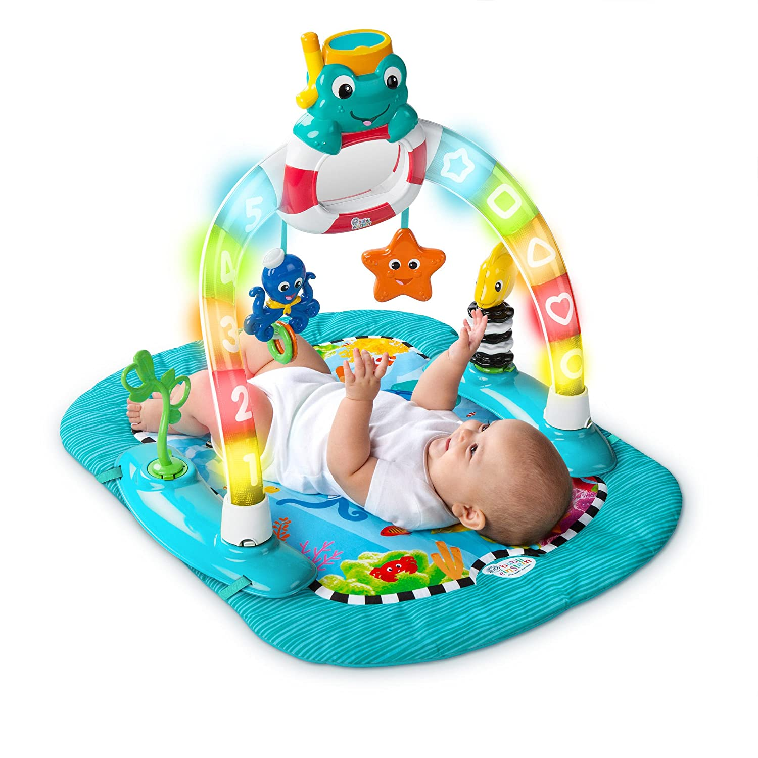 Baby einstein animal discovery cards toys amp games on popscreen - Amazon Com Baby Einstein 2 In 1 Lights Sea Activity Gym Saucer Baby