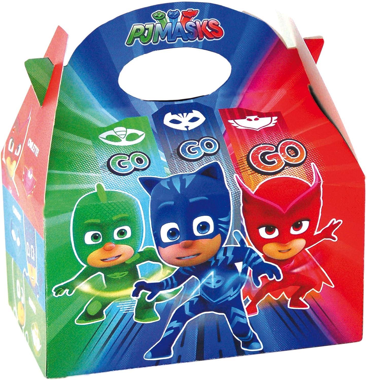 PJ Masks 0651, Pack 4 cajitas de Carton para chuches, Fiestas y ...