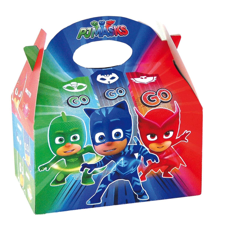 PJ Masks 0651, Pack 4 cajitas de Carton para chuches ...