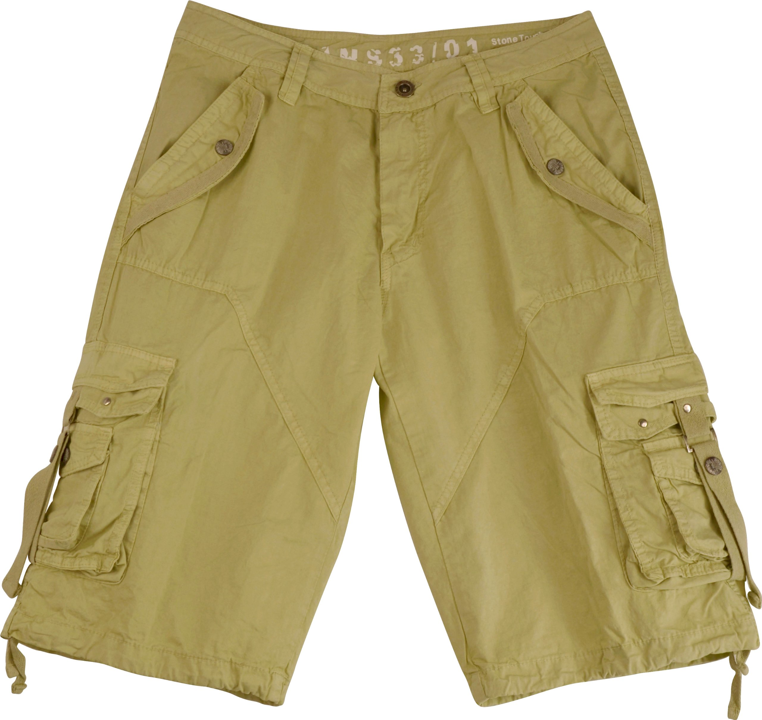Mens Stone Cargo Shorts Military #A8s Size:52