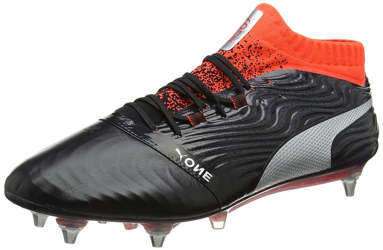 Puma One 18.1 MX SG, Zapatillas de Fútbol para Hombre 43 EU Negro (Puma Black-puma Silver-red Blast)