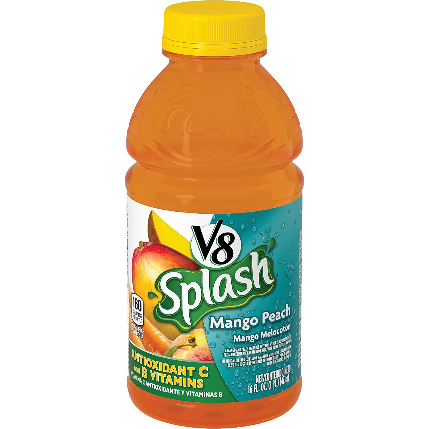 Amazon.com : V8 Splash Mango Peach, 16 oz. Bottle : Grocery & Gourmet Food