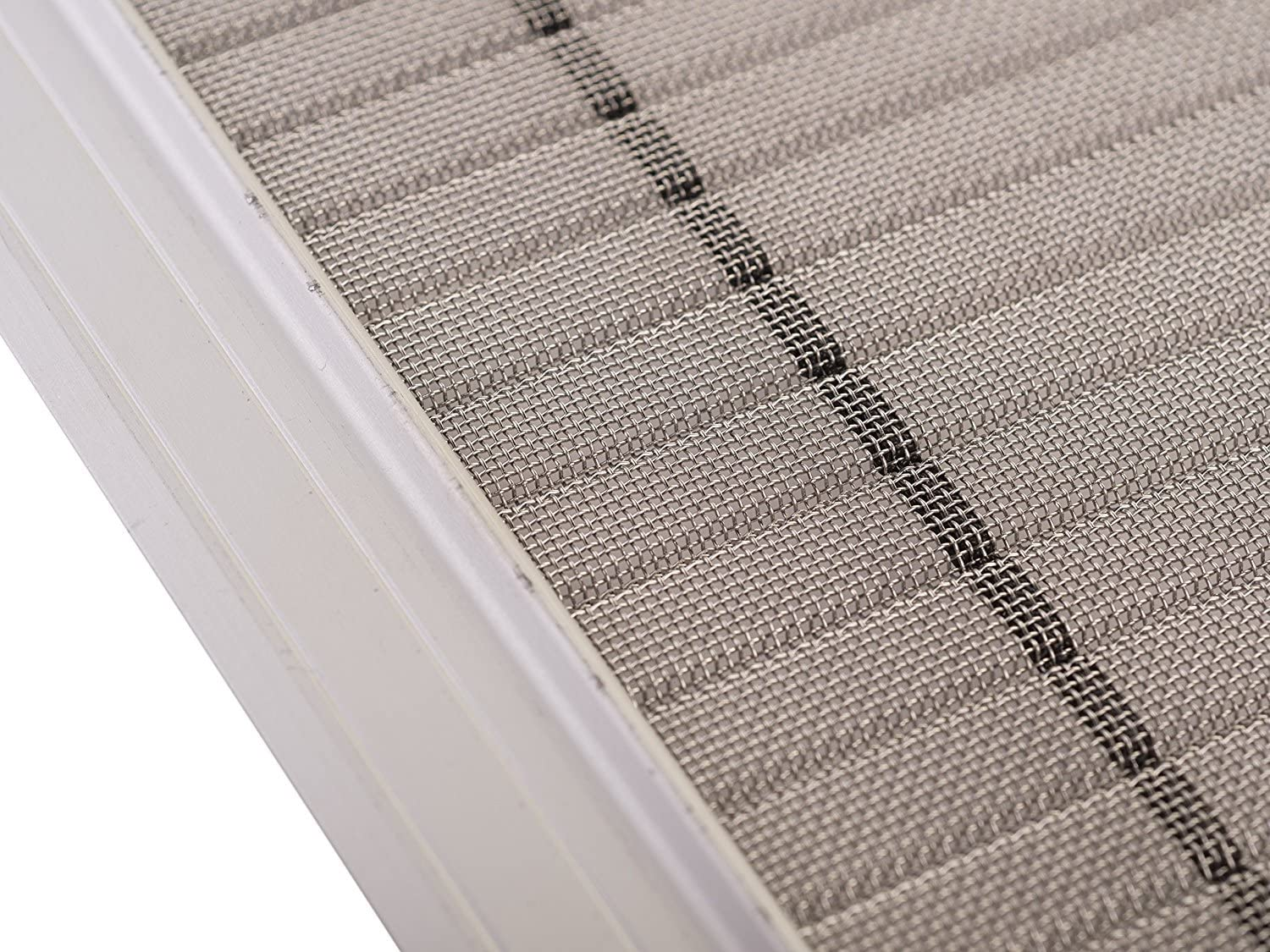 """23 LONG Stainless Steel DIY Micro Mesh Rain Gutter Guard System LeafsOut 5/"""" WIDE"""