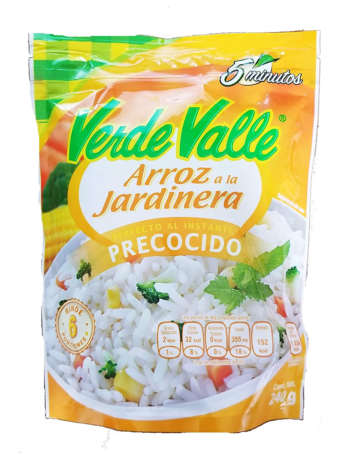 Amazon.com : Verde Valle Mexican Pre Cooked White Rice with ...