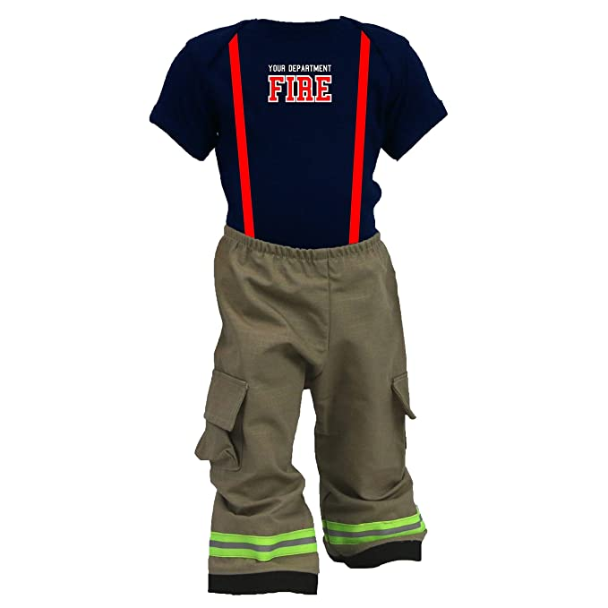 0f725cb54 Personalized Firefighter Baby Tan 2Pc Costume