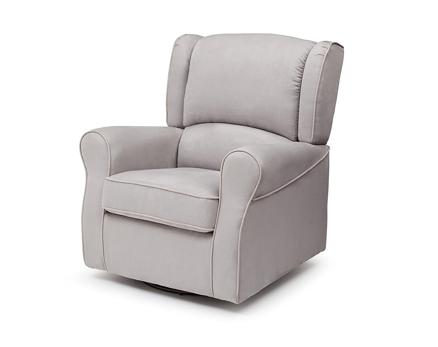 Amazon.com: Delta Furniture Morgan Upholstered Glider Swivel Rocker Chair,  Dove Grey: Baby
