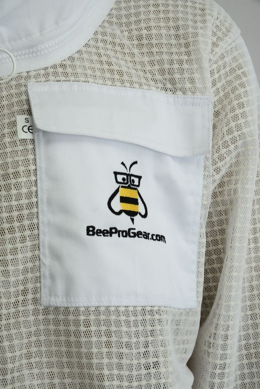 Bee Suit 3 Layer Ultra Ventilated Safety Protective Unisex White Fabric Mesh Beekeeping Jacket Beekeeper Outfit Fency Veil-XL by Bee Suit (Image #8)