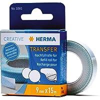 HERMA 1061 navulrol voor zelfklevende rol, verwijderbare (15 mx 9 mm) zelfklevende navulcassette met dubbelzijdige…
