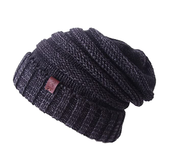 b79a20dfdb9 Slouchy Cable Knit Beanie - Chunky Beanie Hats for Women   Men - Serious  Beanies (