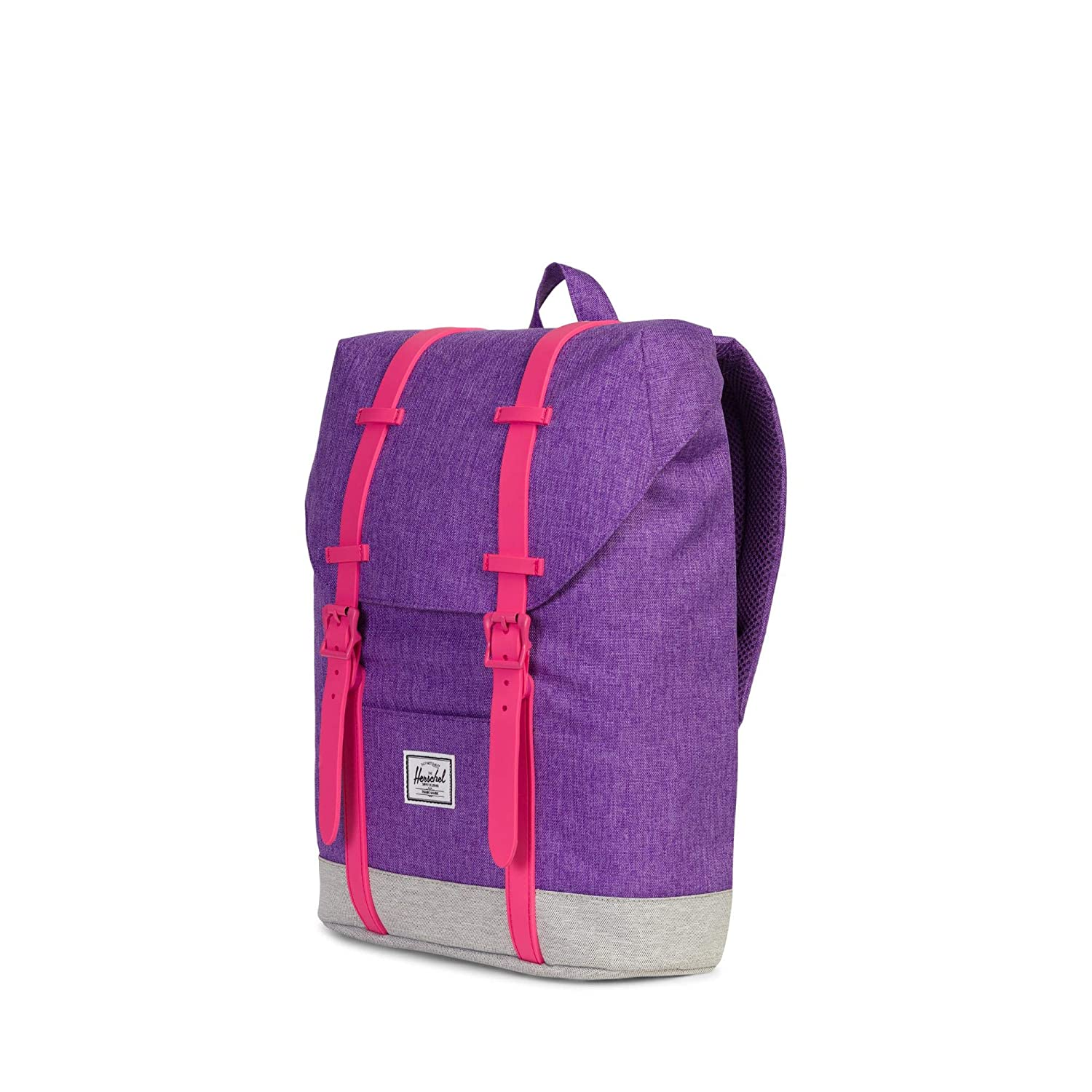 Amazon.com | Herschel Kids Retreat Youth Backpack, Deep Lavendar Light Grey Crosshatch/Fandango Pink One Size | Kids Backpacks