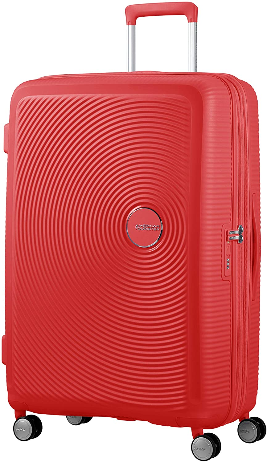 American Tourister Soundbox - Spinner Large Expandable Maleta, 77 cm, 110 Liters, Rojo (Coral Red)