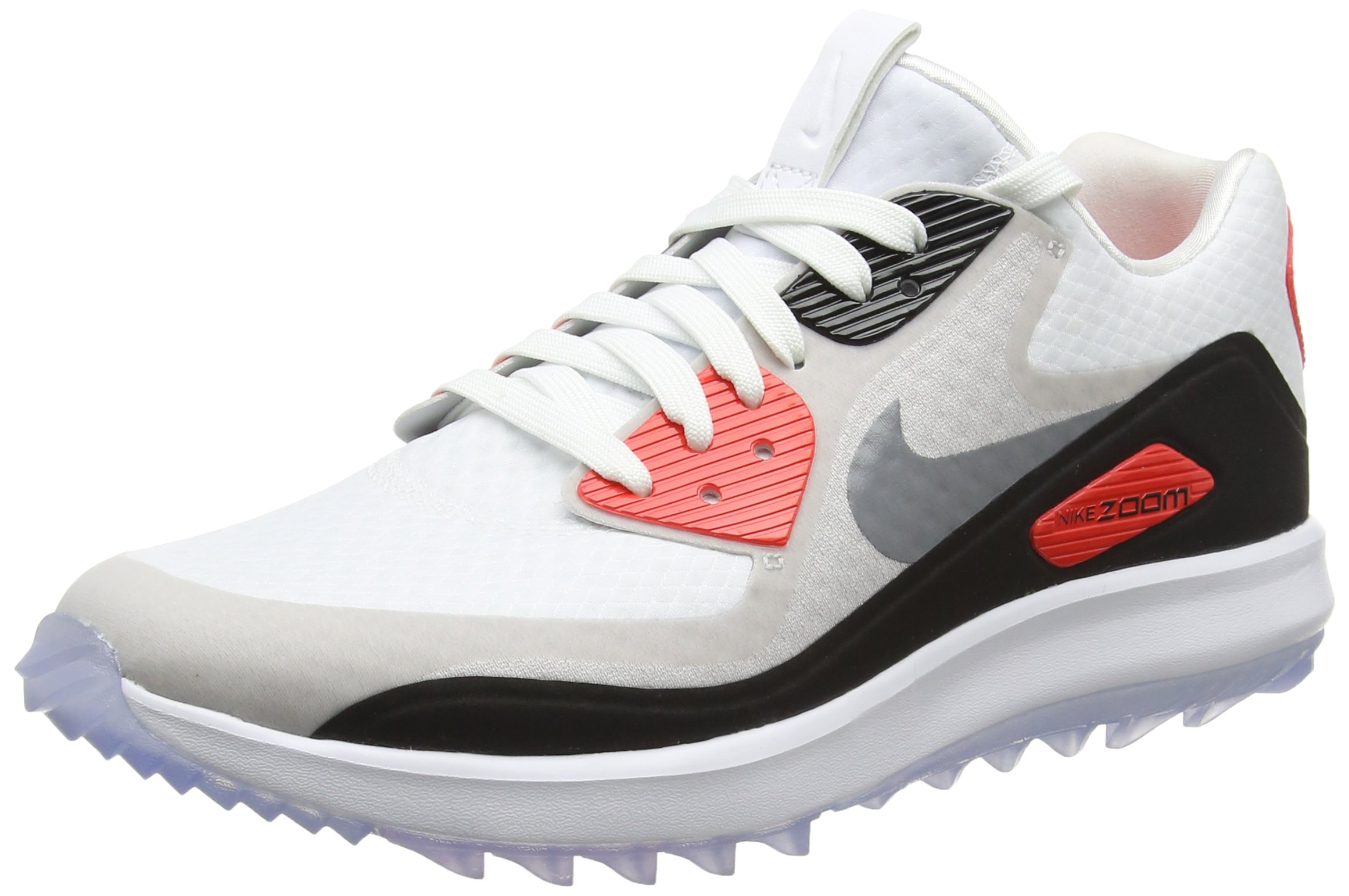 bad5f847064 Galleon - Nike Air Zoom 90 Spikeless Golf Shoes 2017 Women White Cool Gray Neutral  Gray Black Medium 7.5