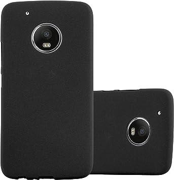 Cadorabo Funda para Motorola Moto G5 Plus en Frost Negro: Amazon.es: Electrónica