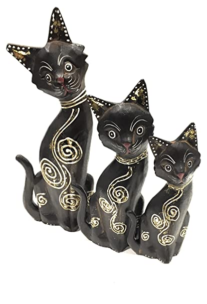 La concha - Gatos Gatitos madera - Set x3 - Decoración Oro ...