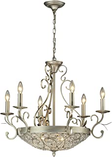 elk lighting andalusia collection 63 light chandelier aged