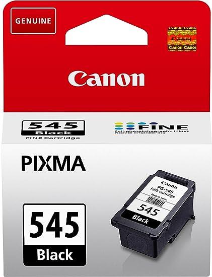 Canon PG-545 Cartucho de tinta original Negro para Impresora de Inyeccion de tinta Pixma TS3150-TS3151-MX495-MG2450-MG2550-MG2550S-MG2555S-MG2950-MG30...