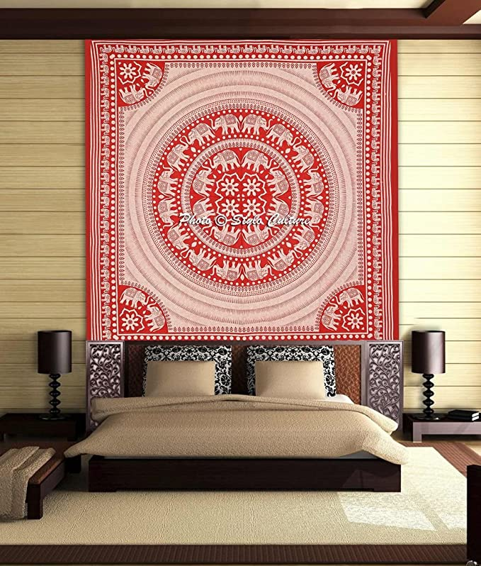 Stylo Culture Elefante Mandala Tapiz De La Reina D...