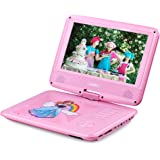 """UEME 9"""" Portable DVD Player With Rechargeable Battery, Remote Control, USB and SD Card Support Plus Car Headrest Mount"""