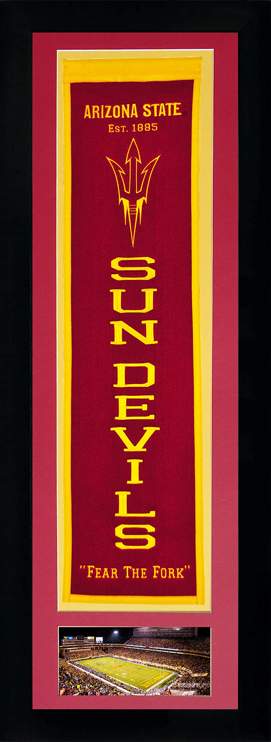 NCAA Arizona State Sun Devils Legends Never Die Team Heritage Banner with Photo, Team Colors, 15'' x 42'' by Legends Never Die