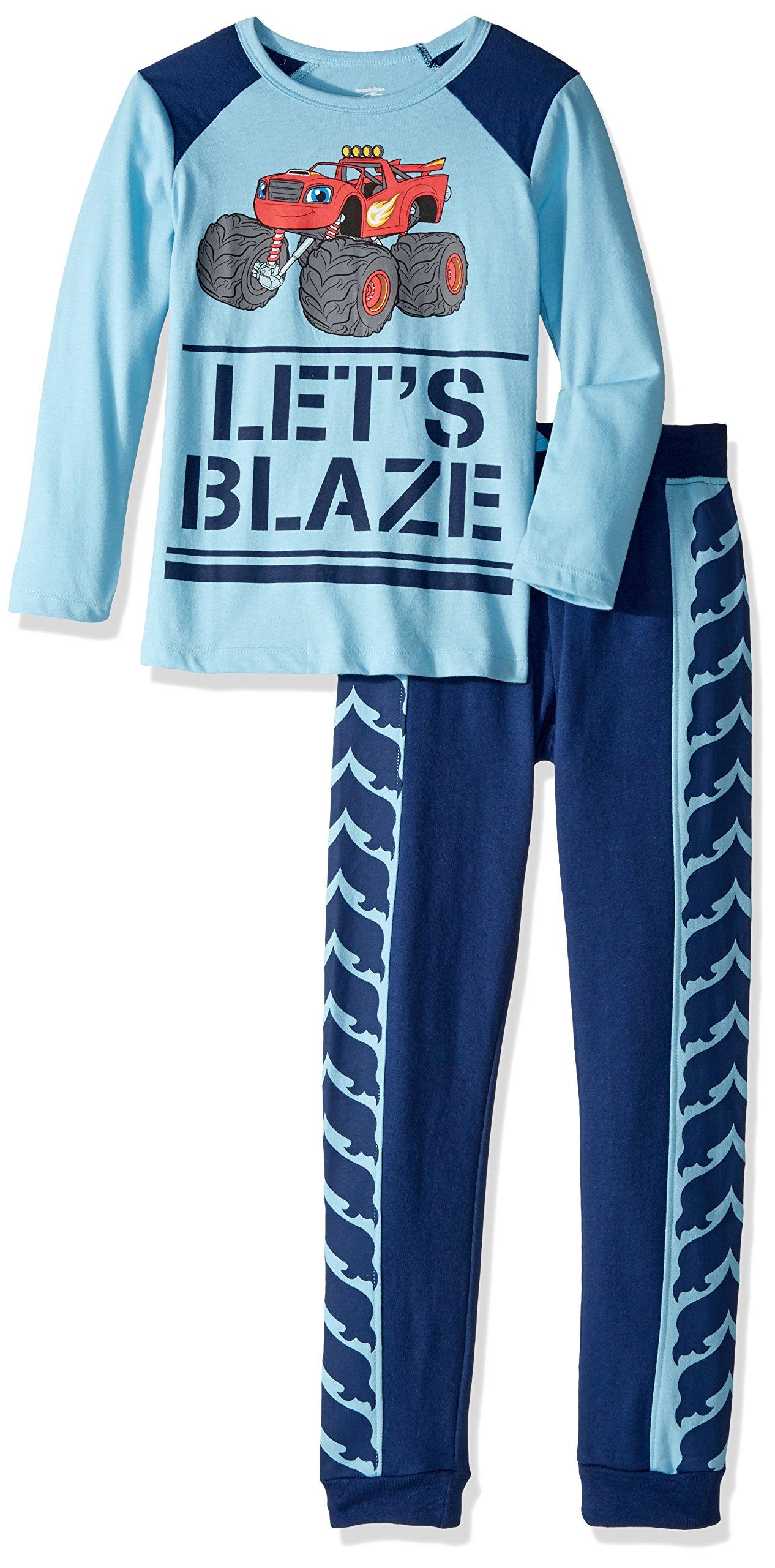 Nickelodeon Toddler Boys' Blaze Built for Speed Jogger Set, Blue/Multi, 5T
