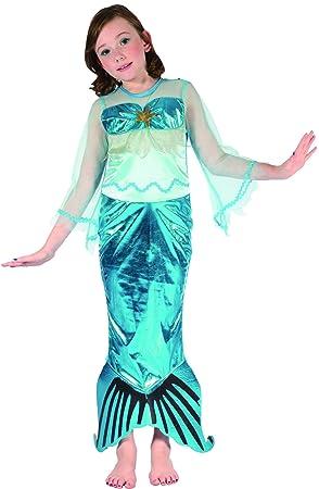 Disfraz sirena niña 4-6 años (104/116): Amazon.es: Juguetes ...