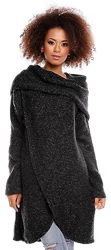 Zeta Ville - Suéter Jersey de Punto Pulóver Diseño de Doble Capa - mujer - 359z