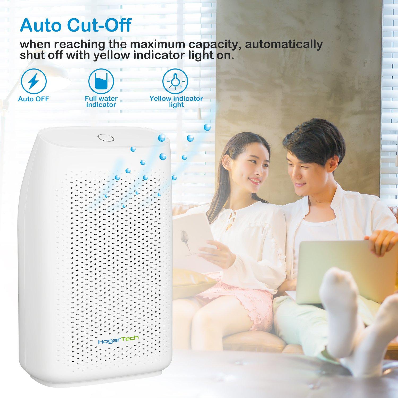 HogarTech Mini Dehumidifier, Ultra Quiet Portable Air Dehumidifier For  Small Room, Moisture Absorber For Bathroom Mini Air Purifier ...