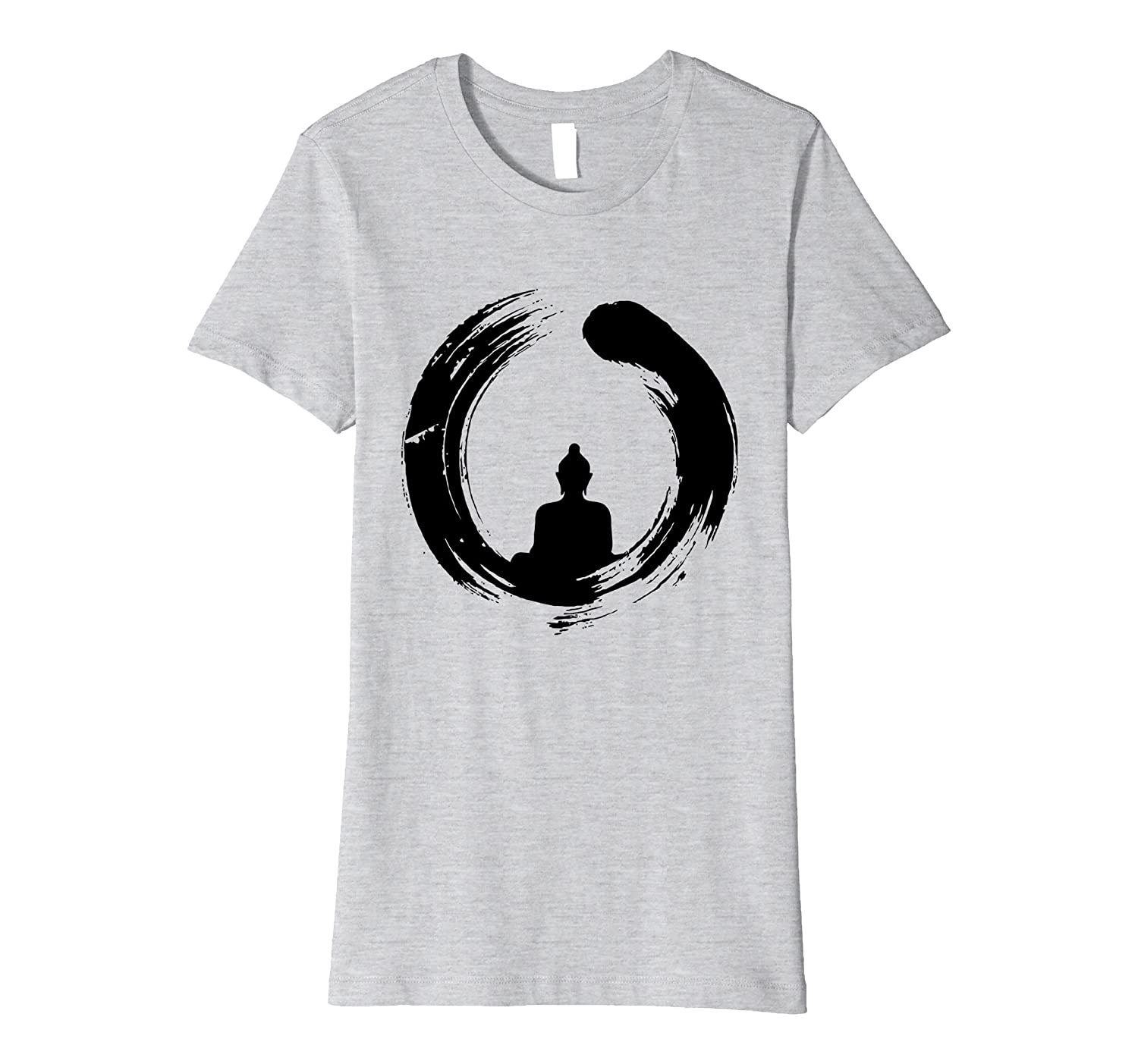 Amazon a silhouette buddha inside the ring of nirvana enso amazon a silhouette buddha inside the ring of nirvana enso symbol clothing biocorpaavc Images