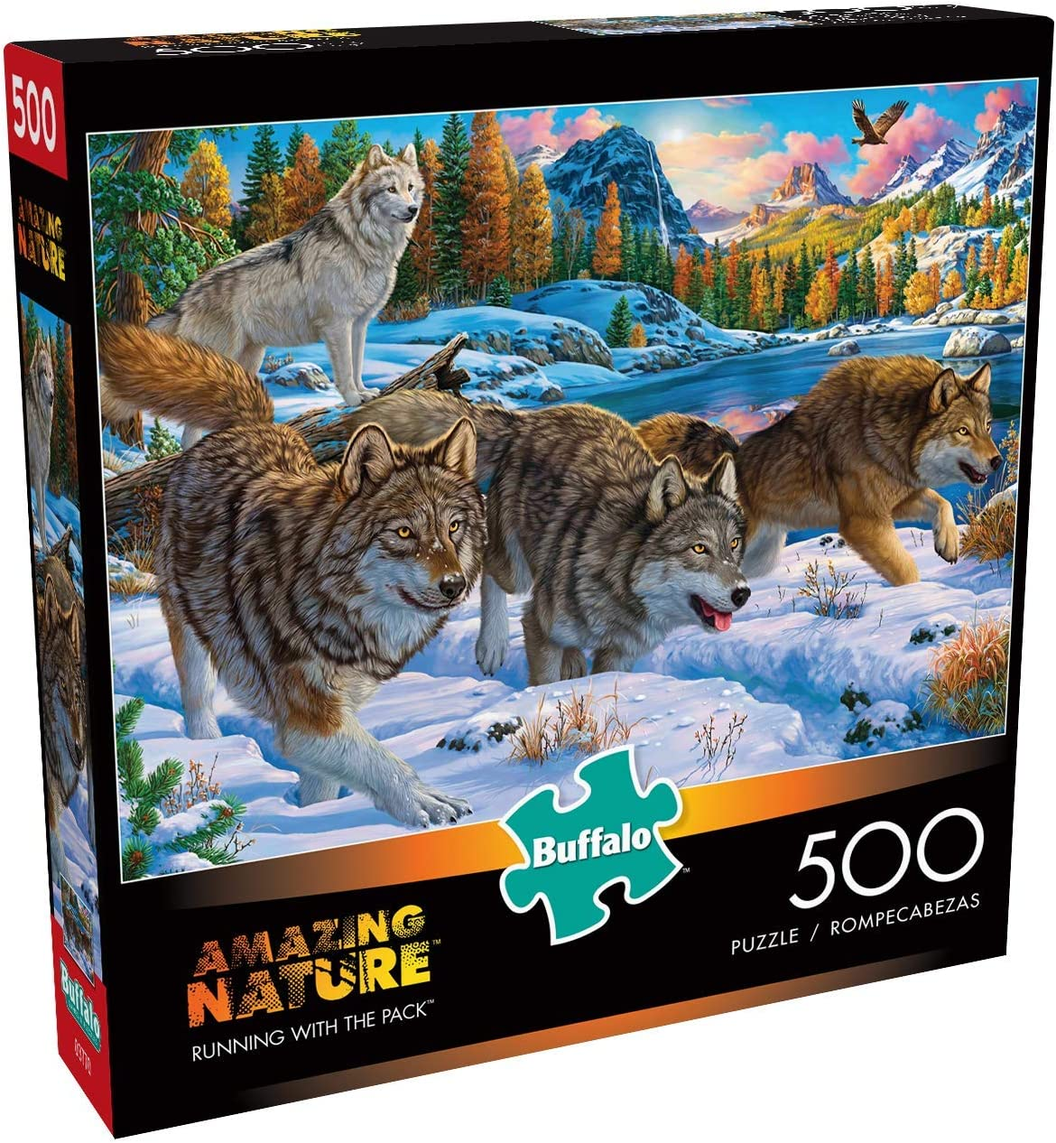 500 Piece Jigsaw Puzzle Running with The Pack Buffalo Games