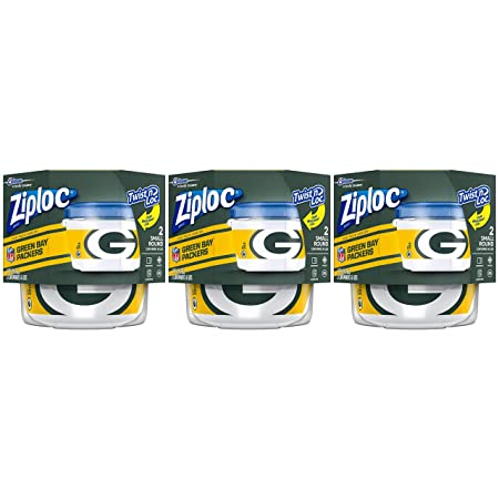Amazon.com: Ziploc Brand NFL Dallas Cowboys Twist n LOC Containers, Small, 2 ct, 3 Pack: Health & Personal Care