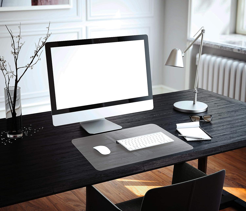 "Floortex Desktex PVC Desk Mat, Economical Surface Protection Mat, Rectangular, Clear, 20"" x 36"" (FBDE2036V)"